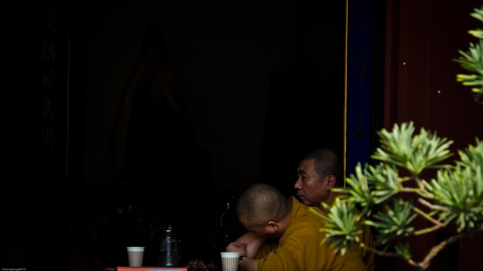 A  Buddhist monastic at the Qibao Temple in Qibao Ancient Town, Shanhghai, China.