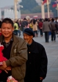 Hanging around Tiananmen Square waiting for the flag lowering ceremony at sunset. The square is infamous, the Forbidden City behind the massive walls is from the ages, but  the people that walk by will only be here for 70-80 years, maybe, so I feeel a sense of urgency when I see them