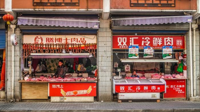Adjoining meat markets