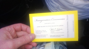 Ticket to the Presidential Inauguration