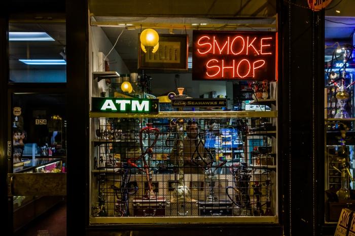 Smoke Shop on Pike Street, Seattle,Washington,U.S.A.