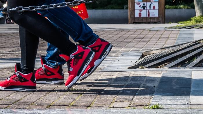 In step