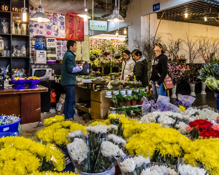 Flower Market at the Green Garden, Pudong, Shanghai