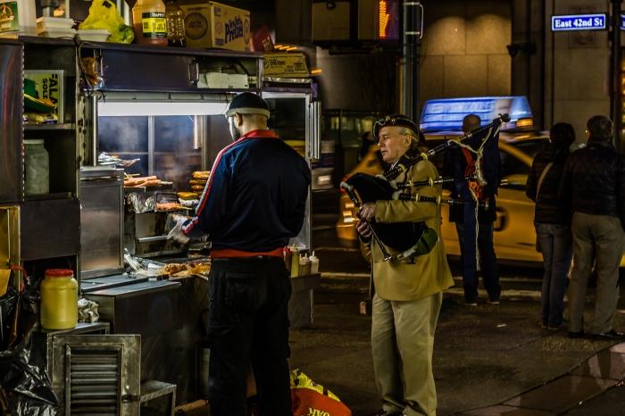 Bagpipes and shish kebab