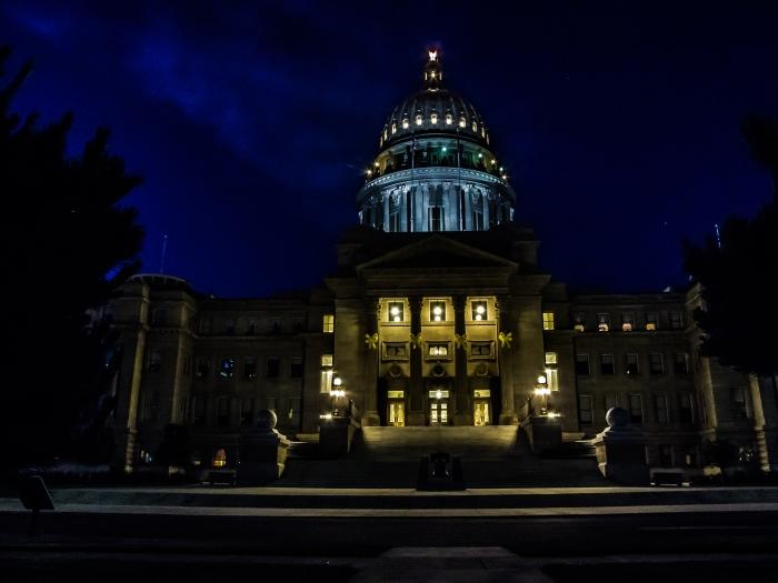 Idaho State Capitol at Night