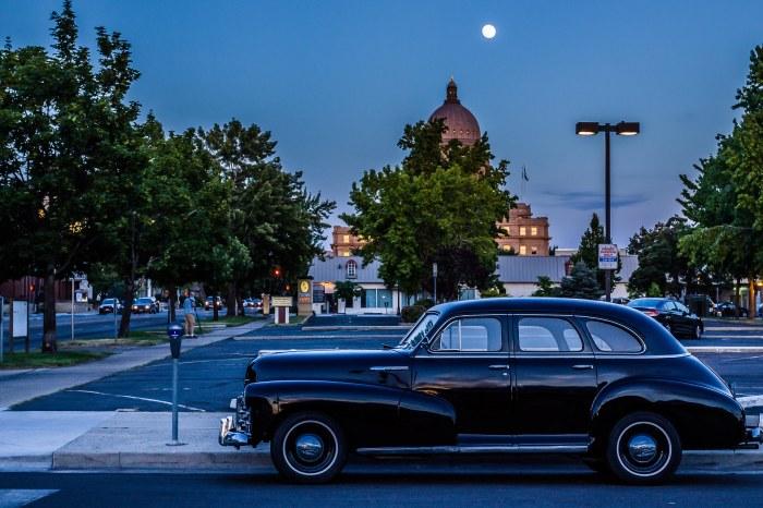 Moon over Boise.