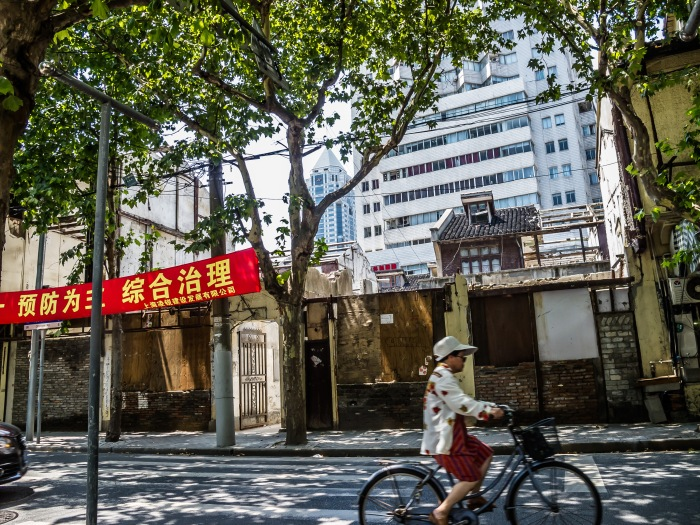 "Old neighborhoods are dismantled to make room for the ""new"" Shanghai"