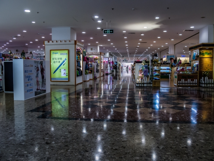 Shopping Malls in Shanghai are large, glittery and often empty.