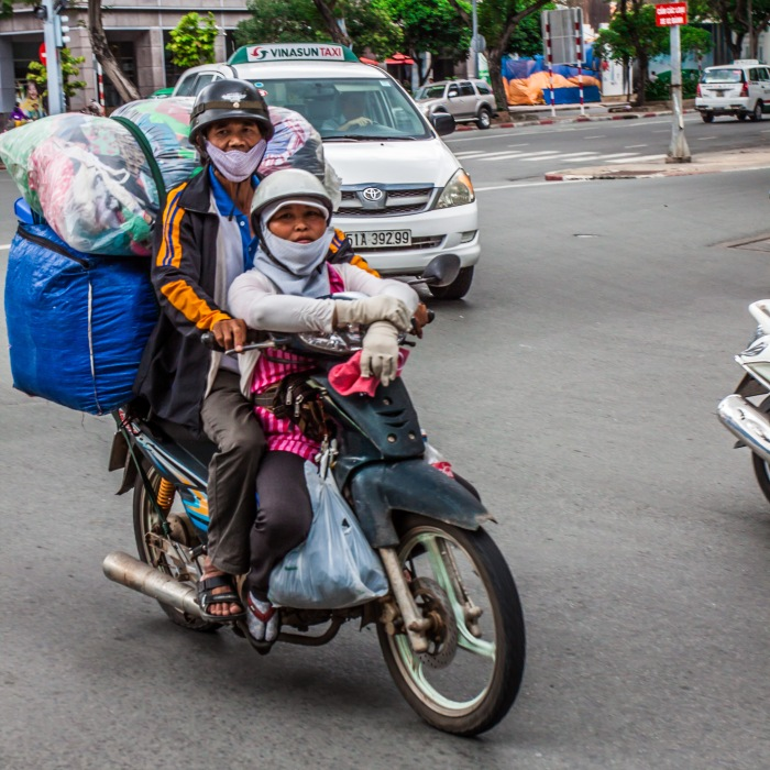 Scooters transport everything and everyone in Ho Chi Minh City