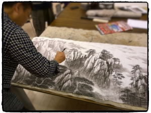 Watercolor artist adds a layer to his landscape of Yellow Mountain