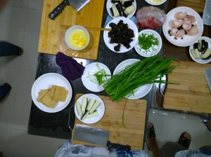 Ingredients fresh from the wet market.