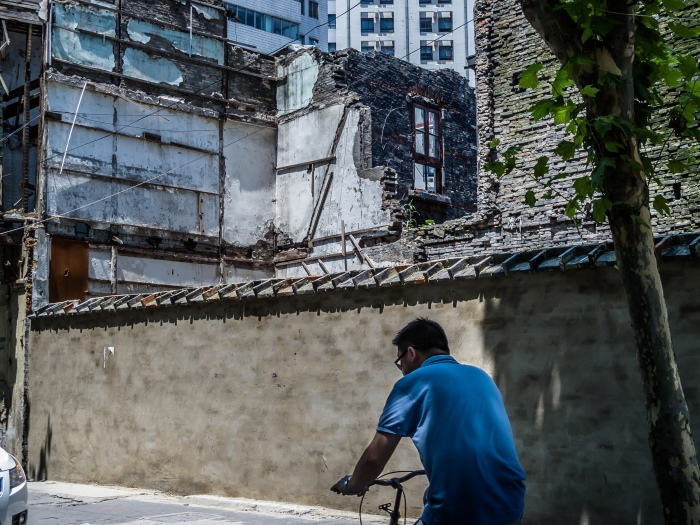 Old Lilong neighborhood being torn down in Shanghai
